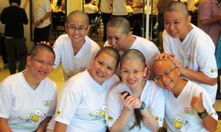 160513-The seven female shavees at StarHub's Hair for Hope Satellite Event